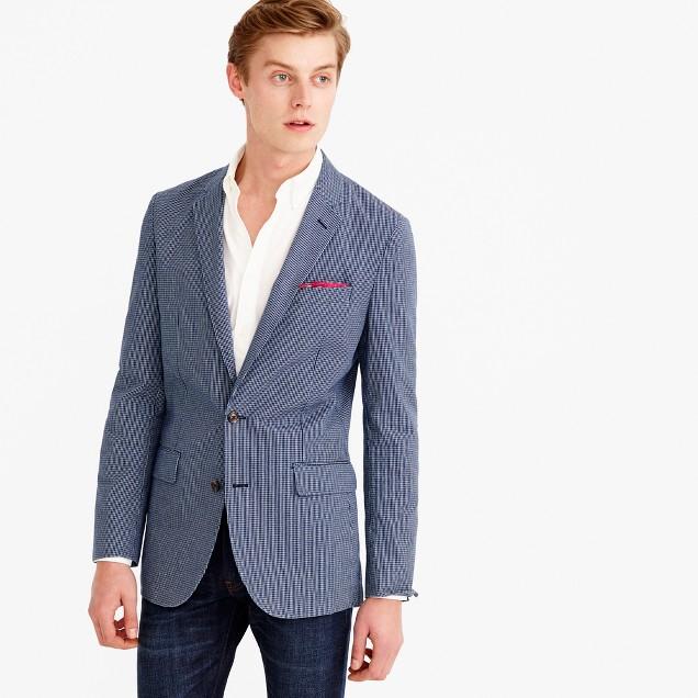 Ludlow blazer in microcheck cotton