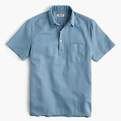 Wallace & Barnes cotton-hemp popover shirt
