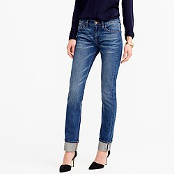 Petite matchstick jean in Japanese selvedge Fayette wash