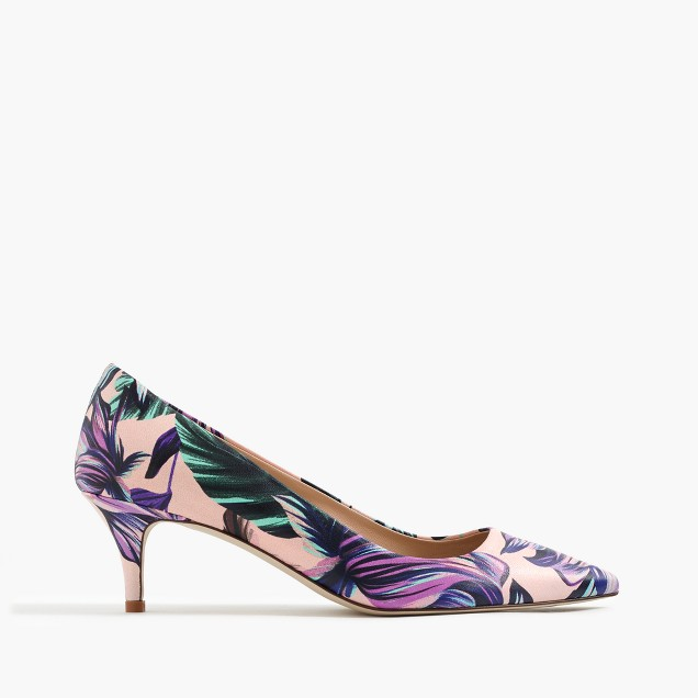 Dulci kitten heels in romantic floral : | J.Crew