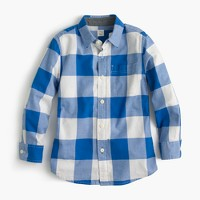 Kids' Secret Wash shirt in cobalt gingham