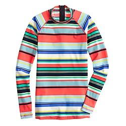 Rash guard in colorful stripe