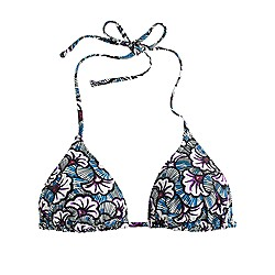 String bikini top in tropical sea fan