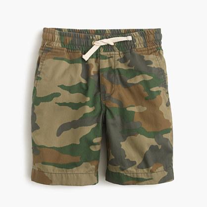Boys' pull-on short in camo