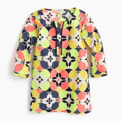 Girls' tunic in kaleidoscopic floral