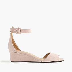Laila wedges in suede
