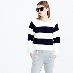 Collection structured striped sweater