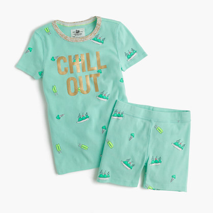 Girls' short-sleeve pajama set in sweet treats