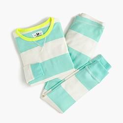 Girls' pajama set in stripe