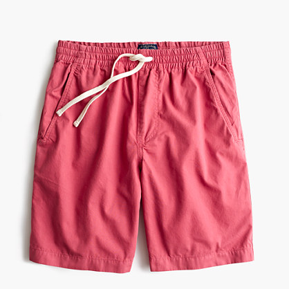 Longer dock short in garment-dyed cotton