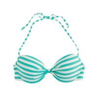Underwire halter bikini top in classic stripe