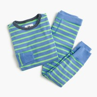 Boys' pajama set in neon stripe