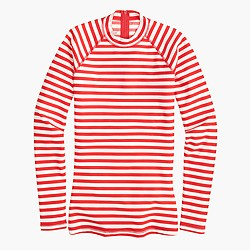 Long-sleeve rash guard in classic stripe