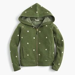 Girls' star hoodie