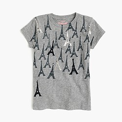 Girls' tossed Eiffel towers T-shirt