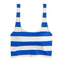 Swim crop top in rugby stripe