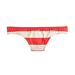 Bikini bottom in rugby stripe