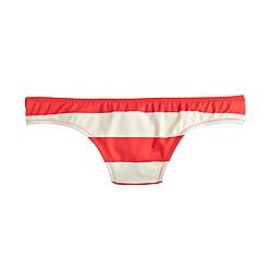 Bikini bottom in rugby stripe