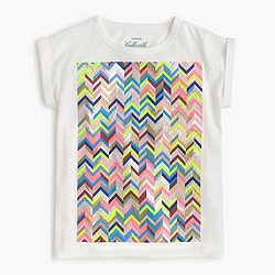 Girls' zigzag T-shirt