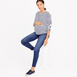 Maternity toothpick jean in Lancaster wash