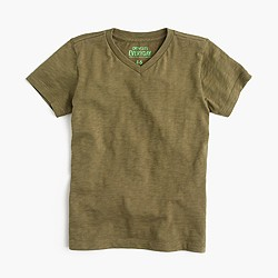 Boys' slub V-neck T-shirt