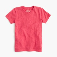 Boys' slub V-neck T-shirt