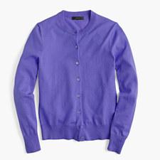 Cotton Jackie cardigan sweater - DARK HYACINTH
