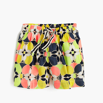Girls' skirty short in kaleidoscopic floral