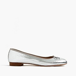Kiki crackled metallic leather ballet flats