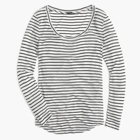 10 percent long-sleeve T-shirt in stripe