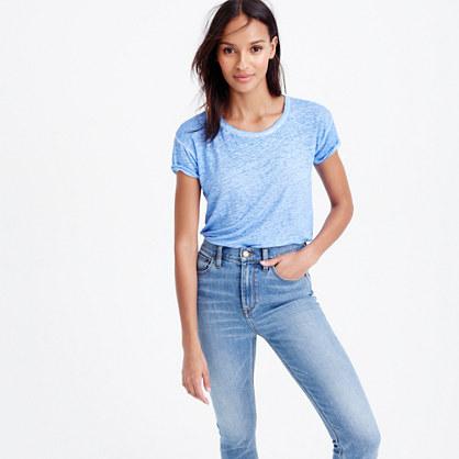 Relaxed cool-dye linen T-shirt