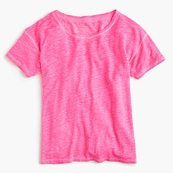 Relaxed cool-dye linen T-shirt