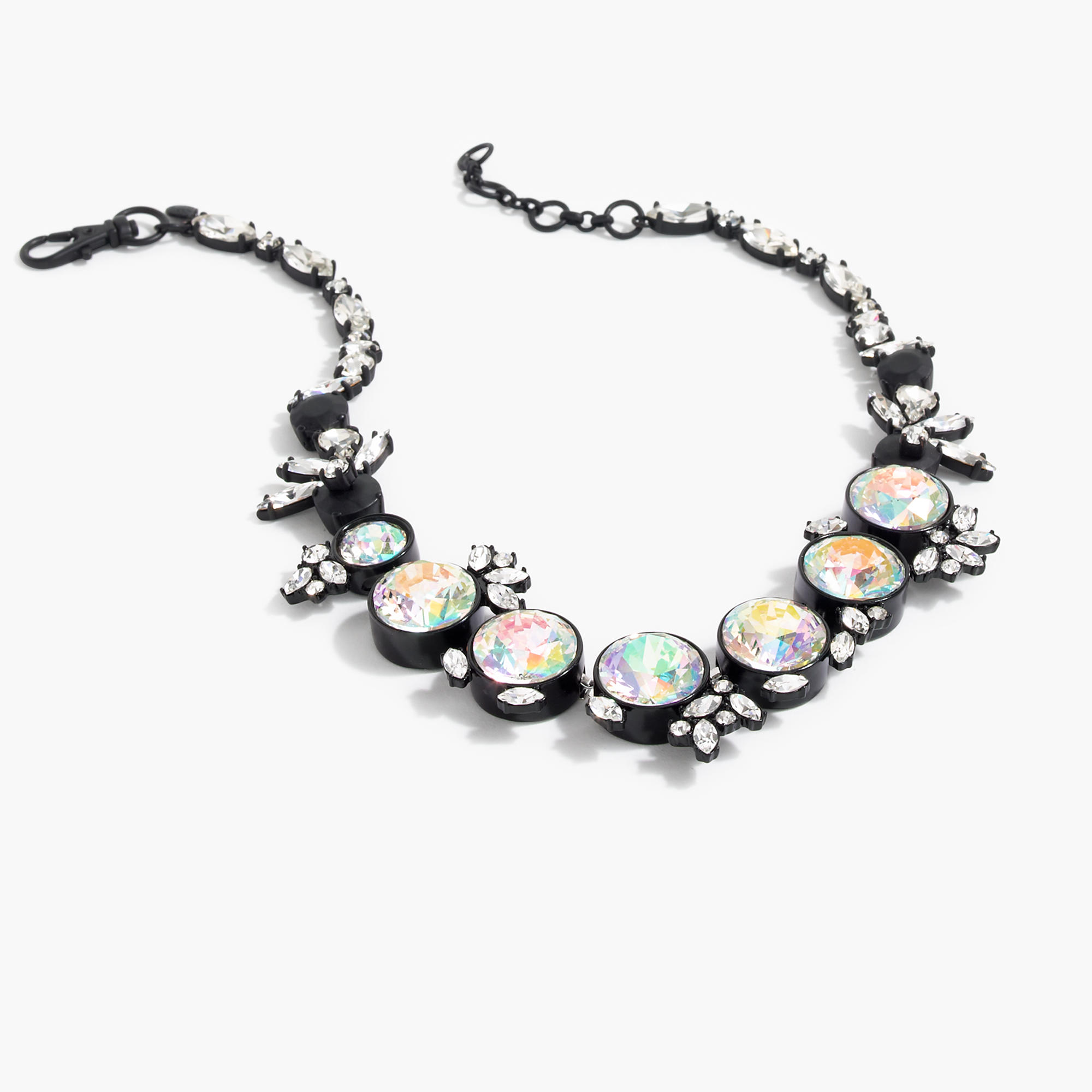 Iridescent crystal necklace j crew for J crew jewelry 2015