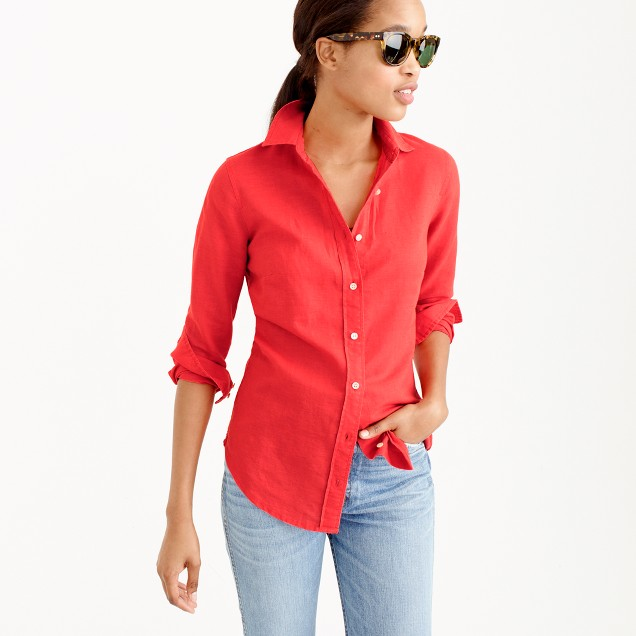 Tall perfect shirt in cotton-linen