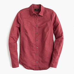 Perfect shirt in cotton-linen