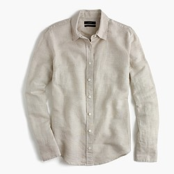 Perfect shirt in cotton-linen crosshatch