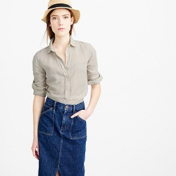 Tall perfect shirt in cotton-linen crosshatch
