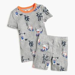 Boys' short pajama set with beach Yeti