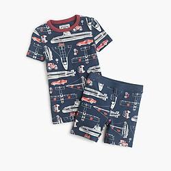 Boys' short glow-in-the-dark pajama set with transit print