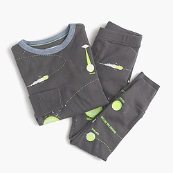 Boys' glow-in-the-dark pajama set in constallations