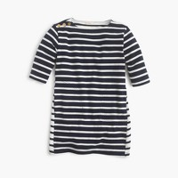 Girls' mixed-stripe shift dress