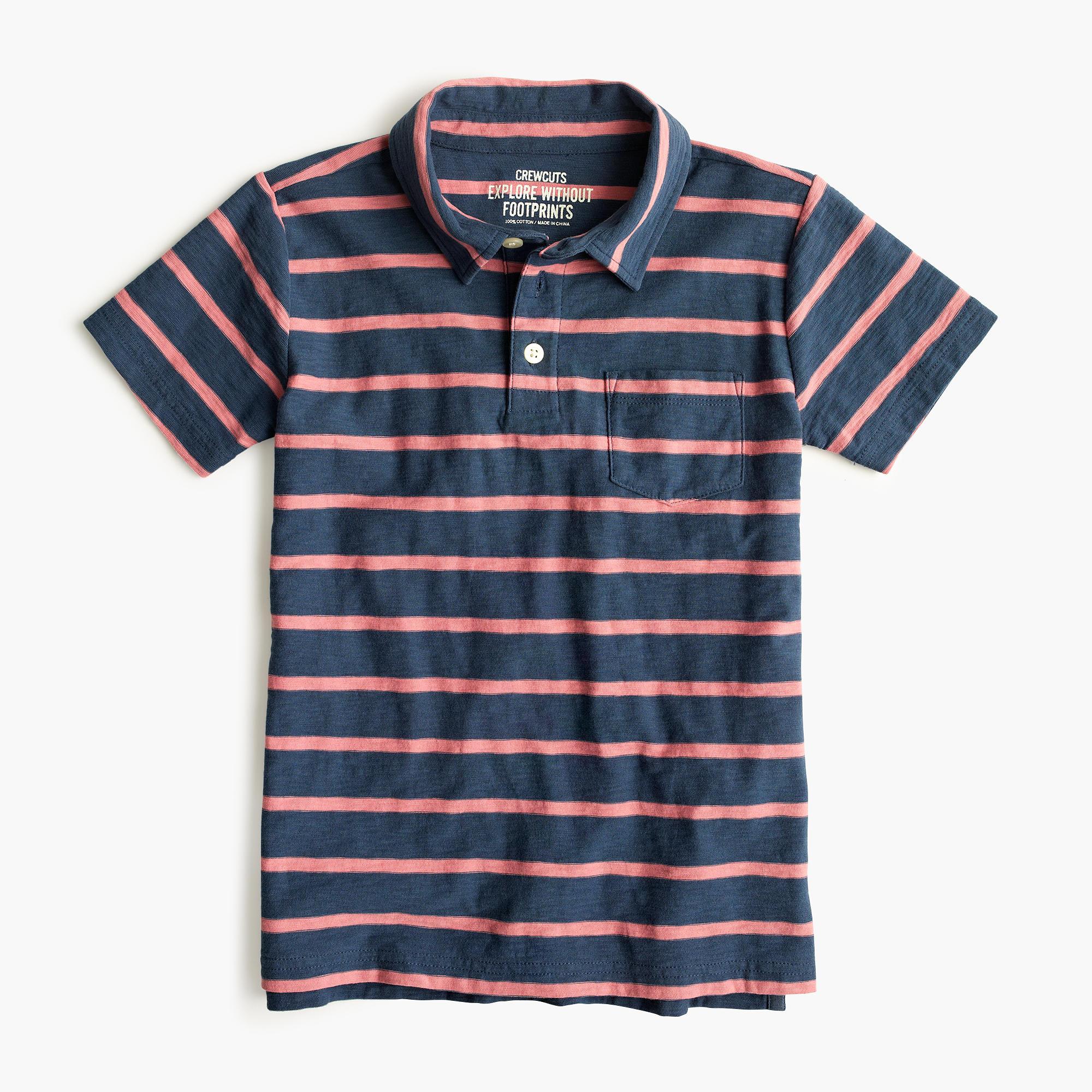 Boys 39 polo shirt in pop stripe j crew for Boys striped polo shirts