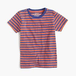 Kids' pocket T-shirt in bengal stripe