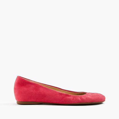 Cece Italian-made ballet flats in suede