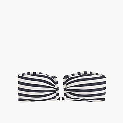 U-front bandeau bikini top in classic stripe
