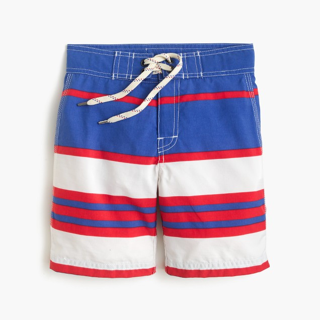 Boys' board short in vintage stripe