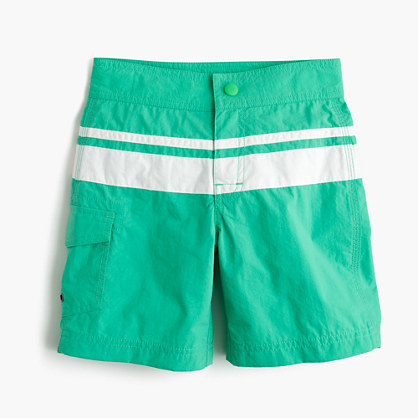 Boys' board short in double stripe