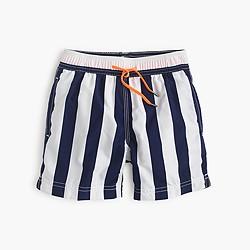 Boys' swim trunk in wide stripe