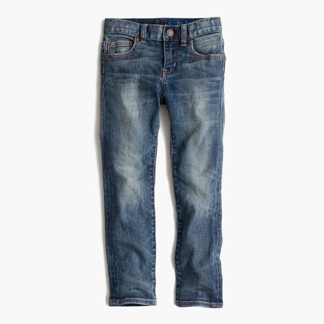 Boys' vintage wash jean in stretch skinny fit