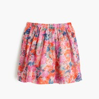 Girls' pull-on skirt in brushstroke marigold